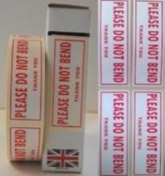 Do Not Bend Labels In Red 1000 On A Roll 85mm x 34mm EAN 500008034132