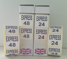Express 24/48 Labels In Black