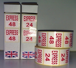 Express 24/48 Labels In Red