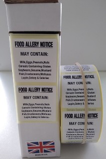 Food Allergy Notice Labels