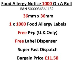 Food Allergy Notice Labels EAN5000036361132