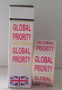 Global Priority Labels In Red