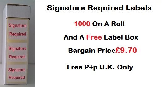 Signature Required Labels 1000 On A Roll