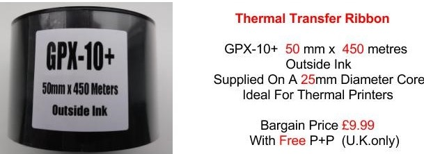 Thermal Transfer Ribbons GPX 10
