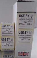 UseBy Labels 36mm x 36mm 1000 On A Roll