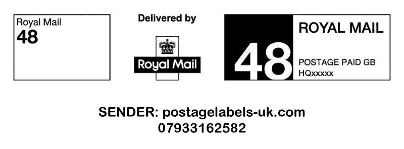 Royal mail Ppi Labels RM 48